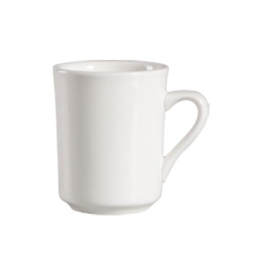 CAC China 101-17 Lincoln Porcelain Mug 8 oz. - 3 doz