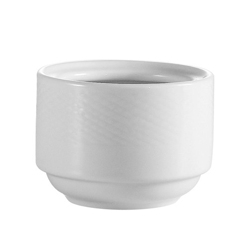 CAC China BST-4 Boston Porcelain Embossed Stacking Cup - 3 doz