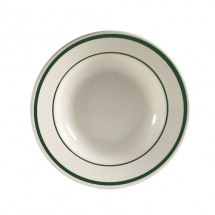 CAC China CES-3 Emerald Rim  Soup Plate 10 oz.  - 2 doz
