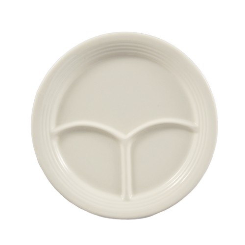 "CAC China CMP-21 Rolled Edge 3-Compartment Plate 12""  - 1 doz"