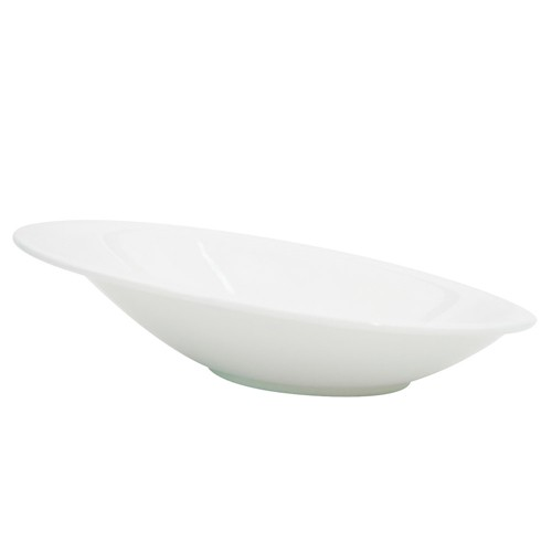 CAC China COL-24 Collection Porcelain Oval Sheer Bowl 6 oz.  - 2 doz