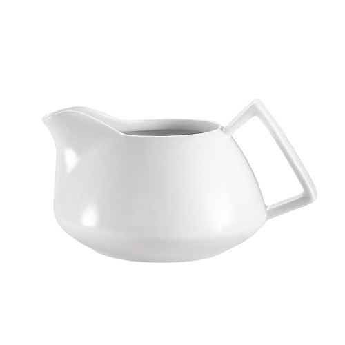 CAC China COL-PC Collection Porcelain Creamer 8 oz. - 3 doz