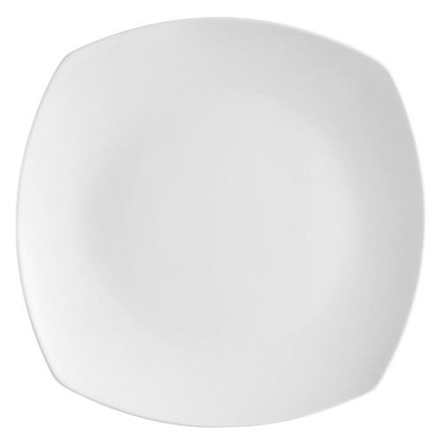 "CAC China COP-SQ16 Coupe Square Porcelain Plate 10""  - 1 doz"