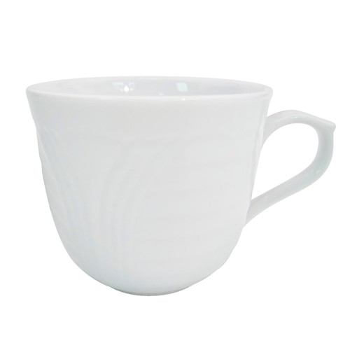 CAC China CRO-1 Corona Porcelain Embossed Cup 7.5 oz. - 3 doz