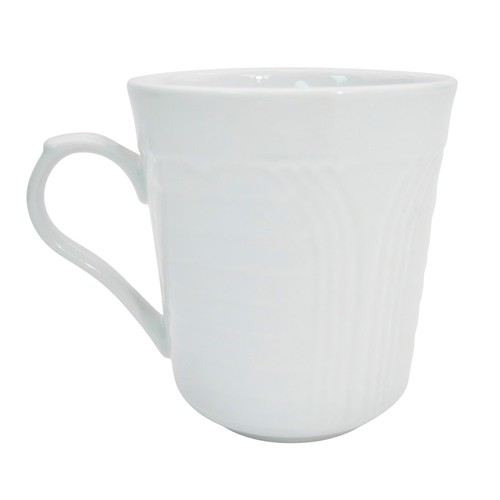 CAC China CRO-17 Corona Porcelain Embossed Mug 8 oz. - 3 doz