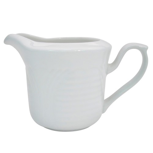 CAC China CRO-PC Corona Porcelain Embossed Creamer 4 oz. - 3 doz