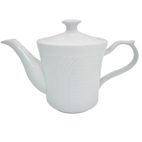 CAC China CRO-TP Corona Porcelain Embossed  Tea Pot 15 oz. - 3 doz