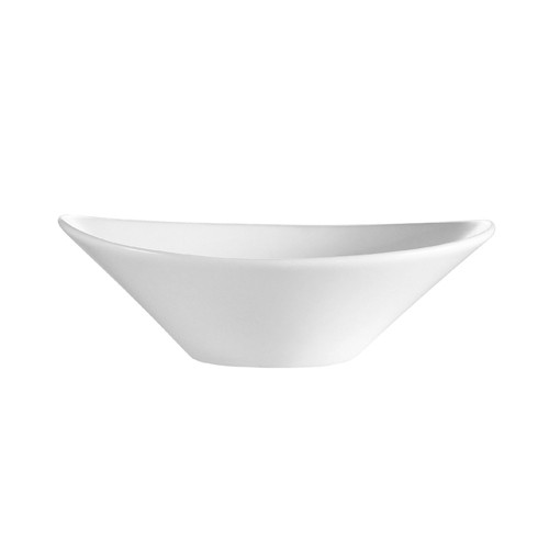 CAC China F-OV9 Sushia Porcelain Oval Salad Bowl 22 oz.- 1 doz