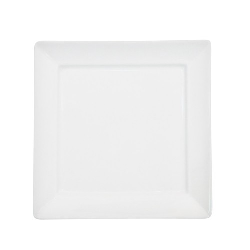 "CAC China F-SQ16 Paris French Square Plate 10-1/4"" - 1 doz"
