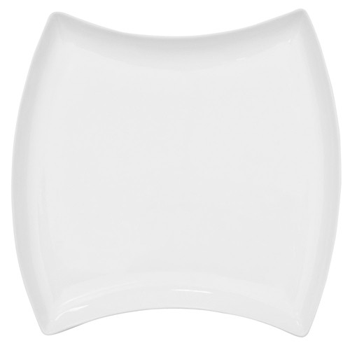 "CAC China FTO-23 Fashionware Square Porcelain Plate 12-3/8"" x 12-3/8"" - 1 doz"