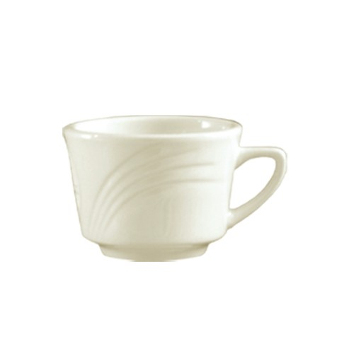 CAC China GAD-1 Garden State Porcelain Embossed Cup 7 oz.  - 3 doz