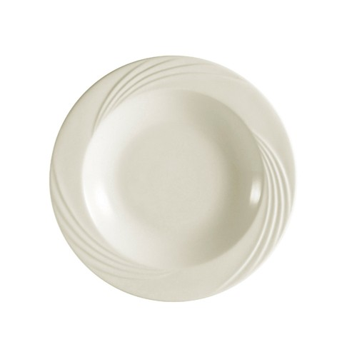 CAC China GAD-115 Garden State Porcelain Embossed Pasta Bowl 32 oz. - 1 doz