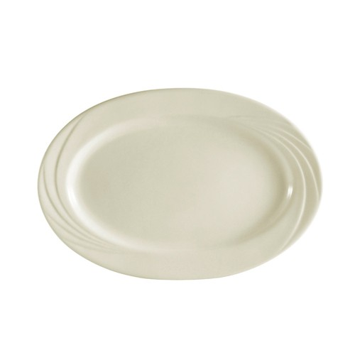 "CAC China GAD-19 Garden State Porcelain Embossed Oval Platter 12-3/4"" - 1 doz"