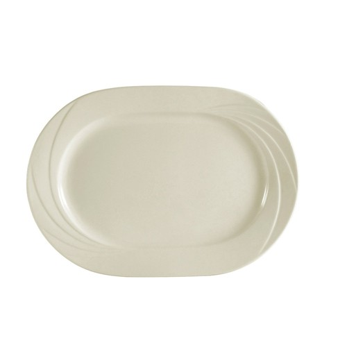 "CAC China GAD-94 Garden State Porcelain Embossed Rectangular Platter 14"" x 10""  - 1 doz"