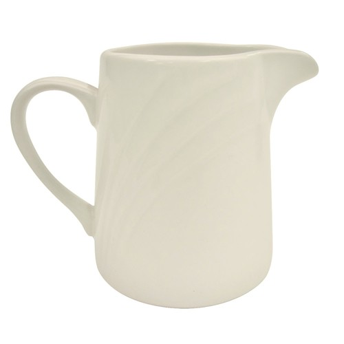 CAC China GAD-PC Garden State Porcelain Embossed Creamer 6 oz.- 4 doz