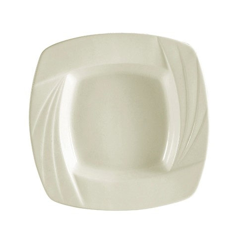 CAC China GAD-SQ110  Garden State Porcelain Embossed  Square Pasta Bowl 24 oz. - 1 doz