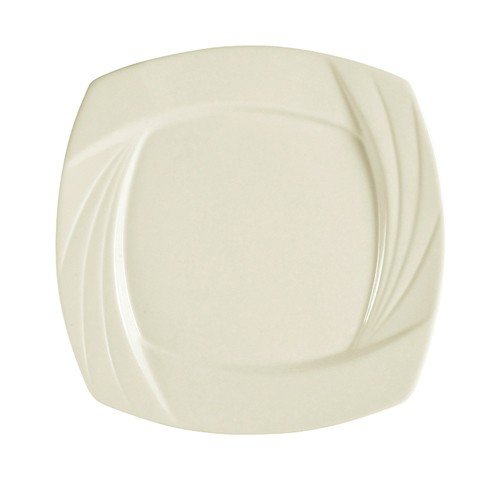 "CAC China GAD-SQ6 Garden State Porcelain Embossed Square Plate 6-1/4""  - 3 doz"