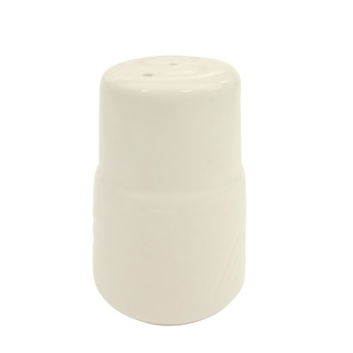 CAC China GAD-SS Garden State Porcelain Embossed Salt Shaker - 4 doz