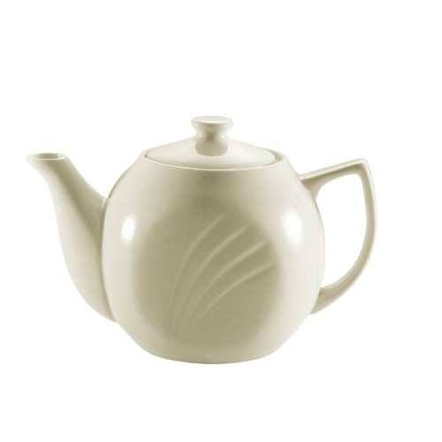 CAC China GAD-TP Garden State Porcelain Embossed Tea Pot 15 oz. - 3 doz