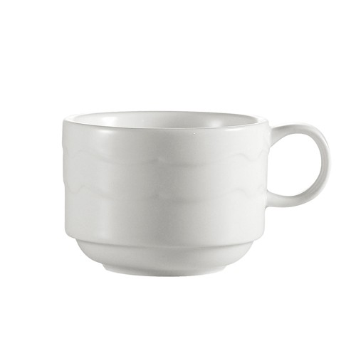 CAC China GBK-1-S Goldbook Porcelain Stacking Cup 8 oz. - 3 doz