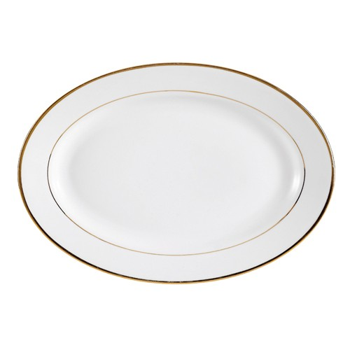 "CAC China GRY-13 Golden Royal Oval Platter 12"" - 1 doz"