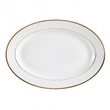 "CAC China GRY-14 Golden Royal Oval Platter 14"" - 1 doz"
