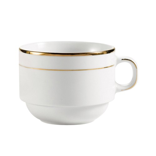 CAC China GRY-23 Golden Royal Stacking Cup 8 oz. - 3 doz