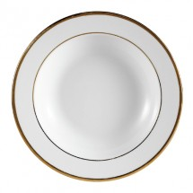 "CAC China GRY-3 Golden Royal Soup Plate 9"" - 2 doz"