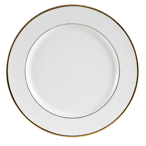 "CAC China GRY-8 Golden Royal Round Plate 9"" - 3 doz"