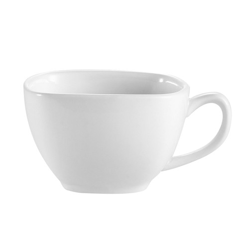 CAC China KSE-1  Kingsquare Square Porcelain Cup 8 oz.  - 3 doz