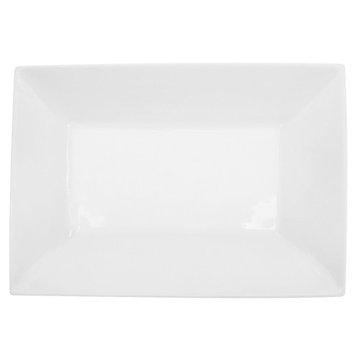 "CAC China KSE-C13 Kingsquare Porcelain Rectangular Platter  11-3/4"" x 8-1/4"" - 1 doz"