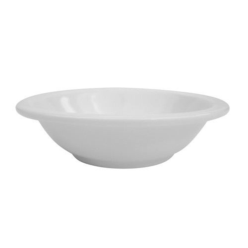 CAC China NCN-11 Clinton Narrow Rim Porcelain Fruit Dish 5 oz. - 3 doz