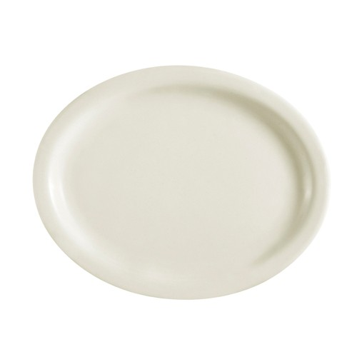 "CAC China NRC-19 Narrow Rim Oval Platter 12-1/2"" x 10-1/8"" - 1 doz"
