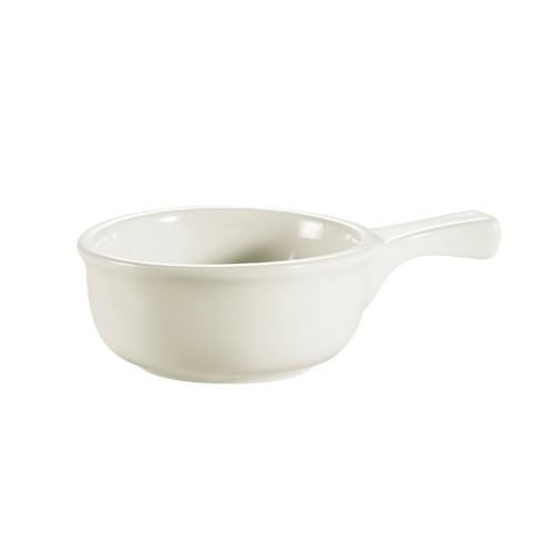 CAC China OC-15-W Onion Soup Crock with Handles - 2 doz