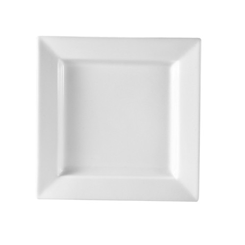 "CAC China PNS-21 Princesquare Porcelain Square Plate 12""  - 1 doz"