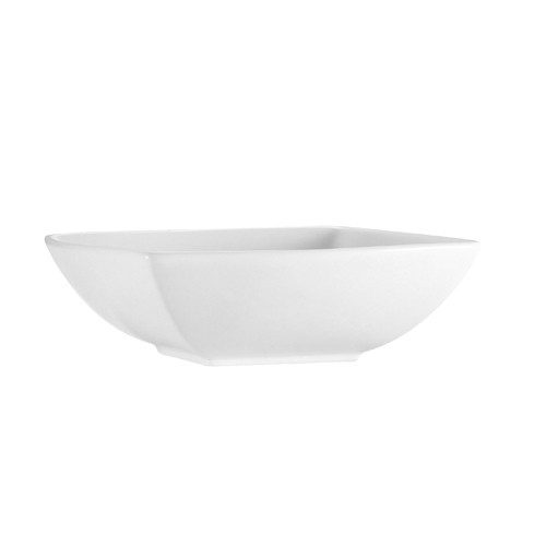 CAC China PNS-B6 Princesquare Porcelain Square Bowl 12 oz. - 3 doz