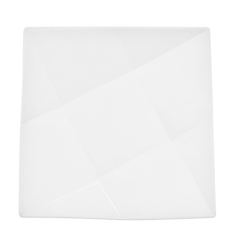 "CAC China QZT-16  Crystal Porcelain Square Plate 10-1/2"" - 1 doz"