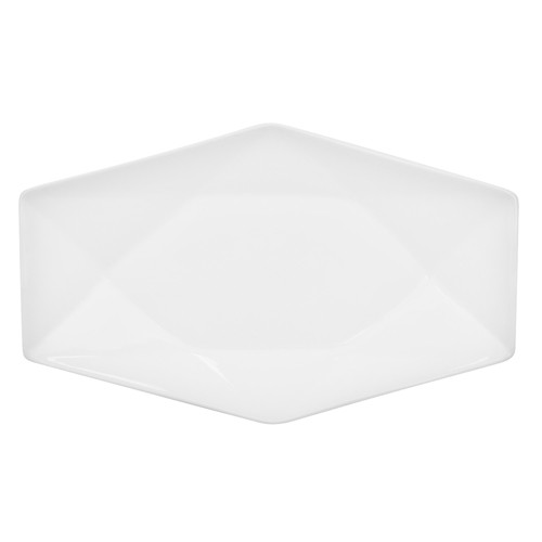 "CAC China QZT-41 Crystal Porcelain Rectangular Platter 14"" x 8-3/4"" - 1 doz"