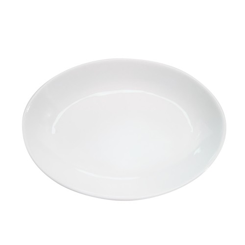 "CAC China RCN-101 Specialty Porcelain Deep Oval Platter 19"" x 13-3/4"" - 4 pcs"