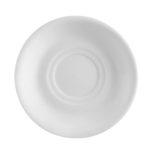 "CAC China RCN-2 Clinton Rolled Edge Super White Saucer 6""  - 3 doz"