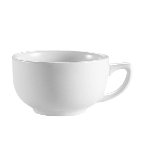 CAC China RCN-56 Clinton Porcelain Super White Cappuccino Cup 14 oz. - 3 doz