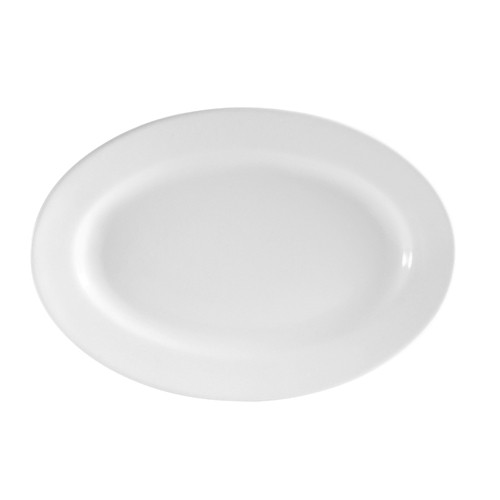 "CAC China RCN-91 Clinton Rolled Edge Porcelain Oval  Platter 20"" x 13-3/4""  - 4 pcs"