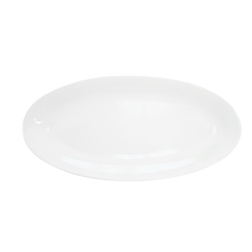 "CAC China RCN-96 Specialty Porcelain Fishia Platter 16"" x 7-3/4"" - 1 doz"