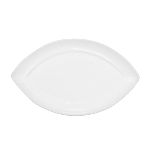 "CAC China RCN-SW9 Specialty Porcelain Swallow Platter 9"" x 5-3/8"" - 3 doz"