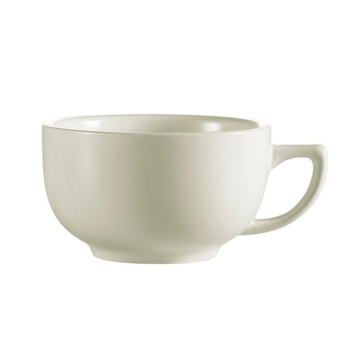 CAC China REC-56 Rolled Edge Stoneware Cappuccino Cup 14 oz. - 3 doz