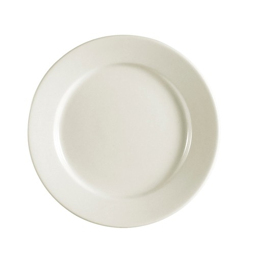 "CAC China REC-7 Rolled Edge Stoneware Plate 7-1/8"" - 3 doz"