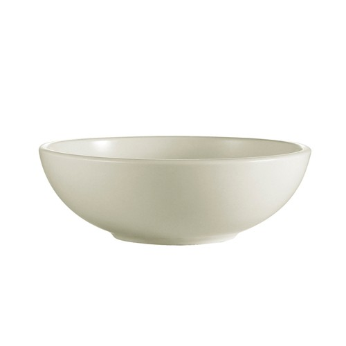 CAC China REC-81 Rolled Edge Stoneware Pasta Salad Bowl 48 oz. - 1 doz