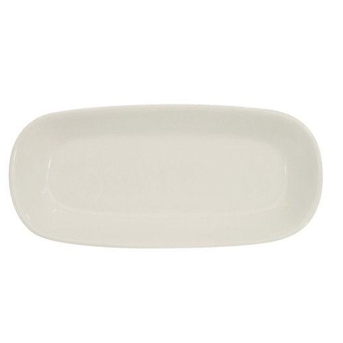 "CAC China REC-RT16 Rolled Edge Rectangular Platter 10"" x 4-1/2""  - 2 doz"