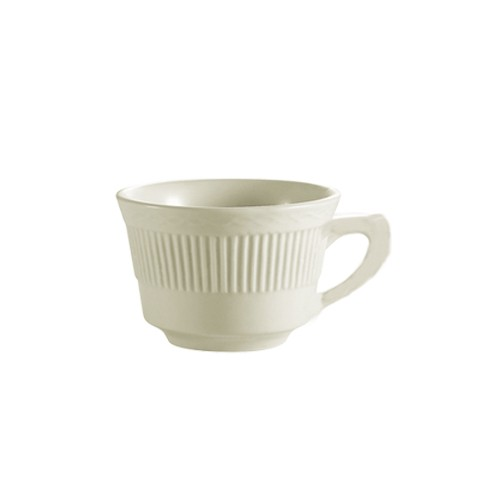 CAC China RID-1 Ridgemont American White Coffee Cup 7 oz. - 3 doz