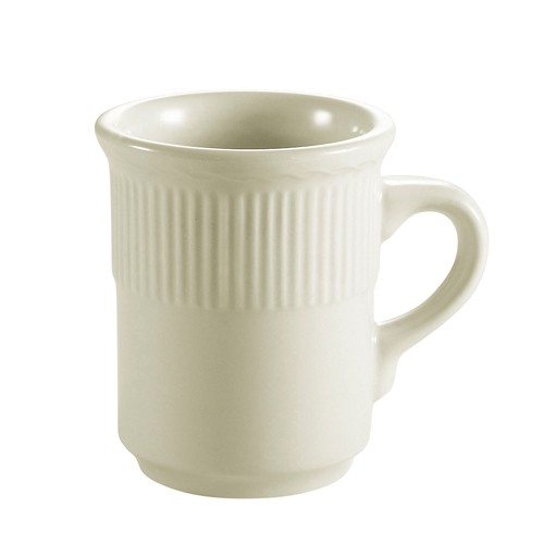 CAC China RID-17 Ridgemont American White Mug 8 oz. - 3 doz